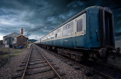 The Mid-Norfolk Railway. Dereham, Disused Train by David Stoddart