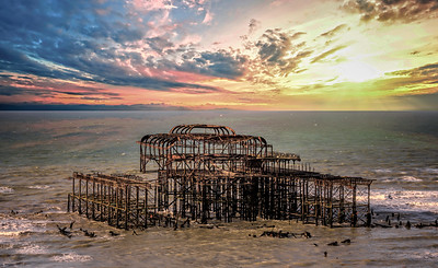 Brighton's Derelict West Pier Pavilion. By David Stoddart