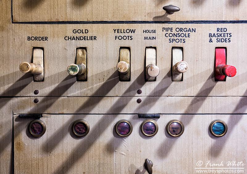 House lights panel detail