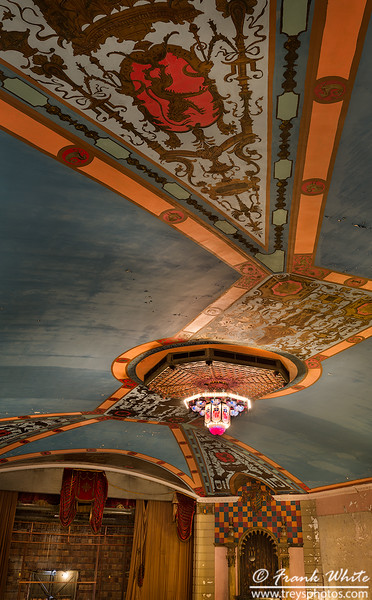Ceiling mural in main theater