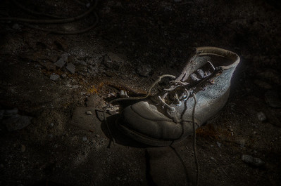 """""""Give 'em The Boot"""" Located in Storage House just before Coal House March 30th, 2011"""