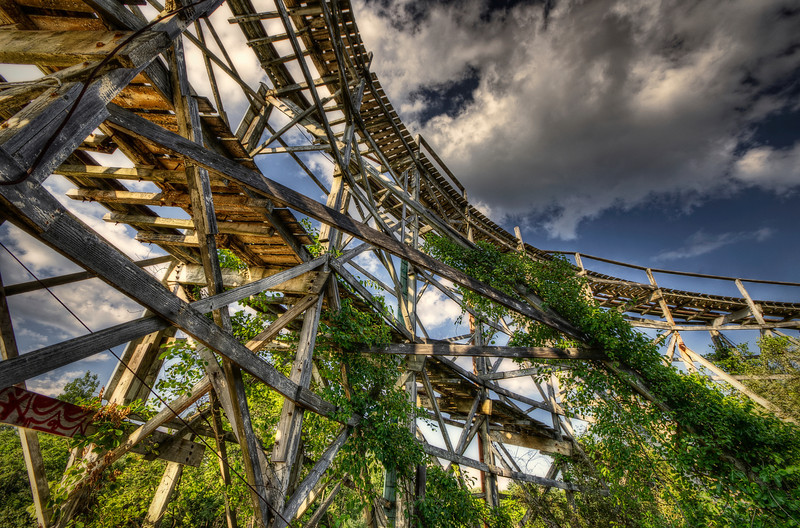 """Before the Fall""<br /> July 10th, 2012<br /> Ruins of Lincoln Park's Comet Roller Coaster<br /> Dartmouth, MA"