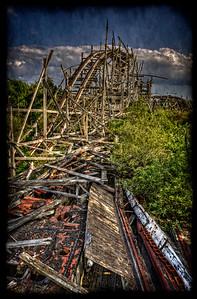 """Track to..."" July 10th, 2012 Ruins of Lincoln Park's Comet Roller Coaster"