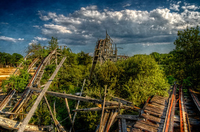 """""""The Two Hills"""" July 10th, 2012 Ruins of Lincoln Park's Comet roller coaster Dartmouth, MA"""