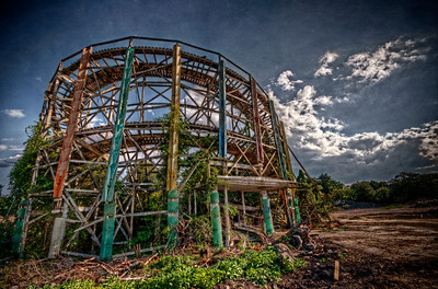 """Still Standing"" July 10th, 2012 The remains of Lincoln Park's Comet roller coaster"