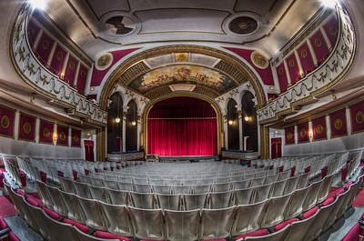 """Floor View of The Columbus Theatre's Proscenium"" March 29th, 2011"