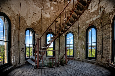 Inside the 1875 Fall River Waterworks Water Tower