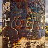 10 Project Faultless. (Image enhanced to illustrate  graffiti.)