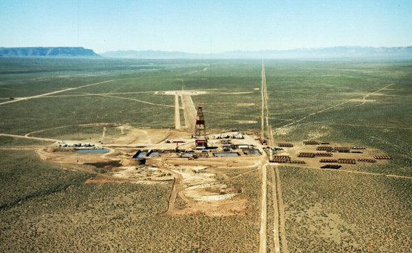 37C Project Faultless UC-3 Borehole looking South. US Dept. of Energy Information.