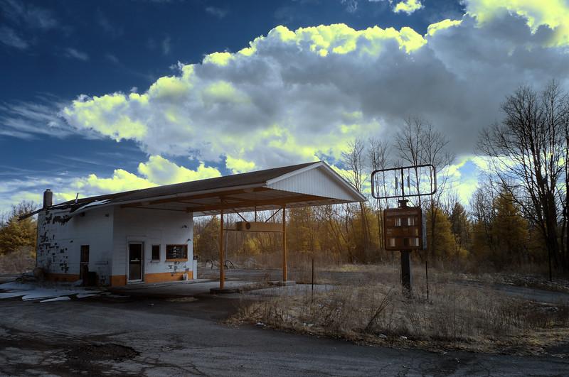 Abandoned Gas Station (Digital Infrared)