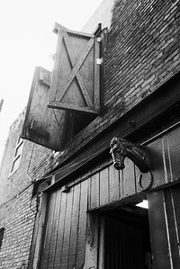 Baltimore -- The Carlton Streeet Stables was named a Baltimore Herritage site in 1999. The rain beats down on the stable on Nov. 9, 2018.