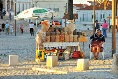 Portugal Trip, Oct. 2009 Street Vendor, Nazare