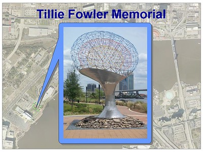 Tillie Fowler Memorial on the Jacksonville Riverwalk