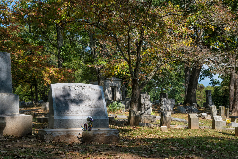 Thomas Wolfe's Grave, Riverside Cemetery