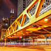 Wacker Drive at Wells, Night