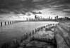 CHI 035                     <br /> The view from the Fullerton Avenue sea wall as an ominous October sky moves over the Chicago skyline.