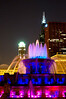 CHI 024                        <br /> Buckingham Fountain lights up the night on a summer evening on Chicago's lakefront.
