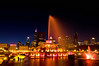 CHI 006                         <br /> Buckingham Fountain lights up the night on the Chicago lakefront.