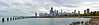 CHI 053<br /> A clearing storm over Lake Michigan and the Chicago skyline, viewed from the Fullerton Avenue sea wall.