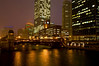 CHI 022                     <br /> A cold, blustery night on the Chicago River, downtown Chicago, Illinois.