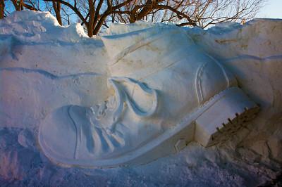 Winterlude Snow Sculpture