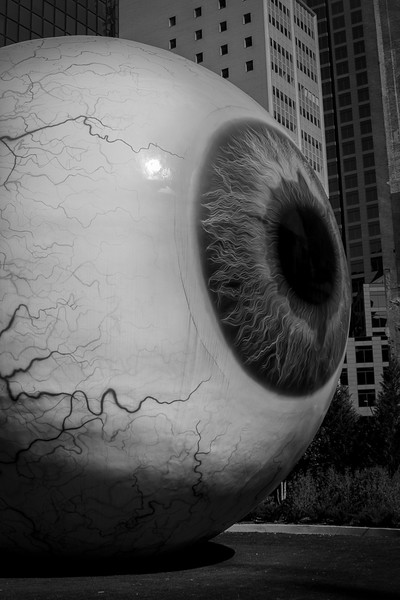 The Eye Sculpture - Downtown Dallas, TX - Photo by Randy Stewart - www.NoPhotosAllowed.com