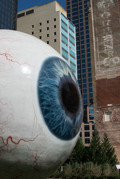 The Eye Sculpture in Downtown Dallas, TX