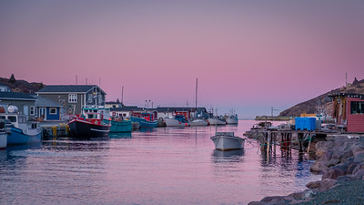 Sunset in Petty Harbour, Newfoundland