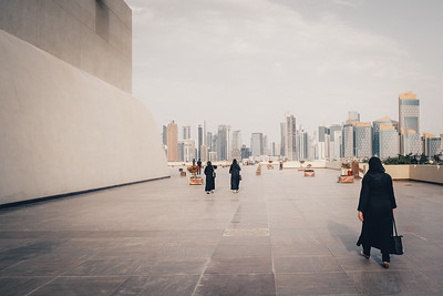 Women at State Grande Mosque in Doha, Qatar