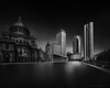 Study 1 - Prudential.<br /> Prudential Center viewed from the Christian Science Center, Boston MA, USA 2014.