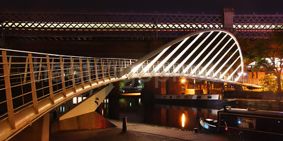 Castlefield at night, Manchester