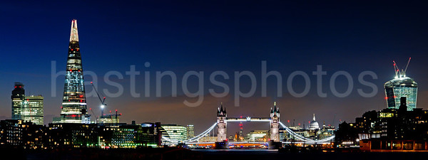 Tower Bridge and Shard, London