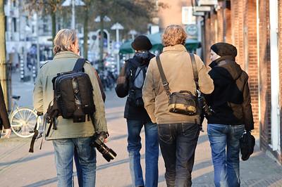 Fotografen op weg naar de kroeg