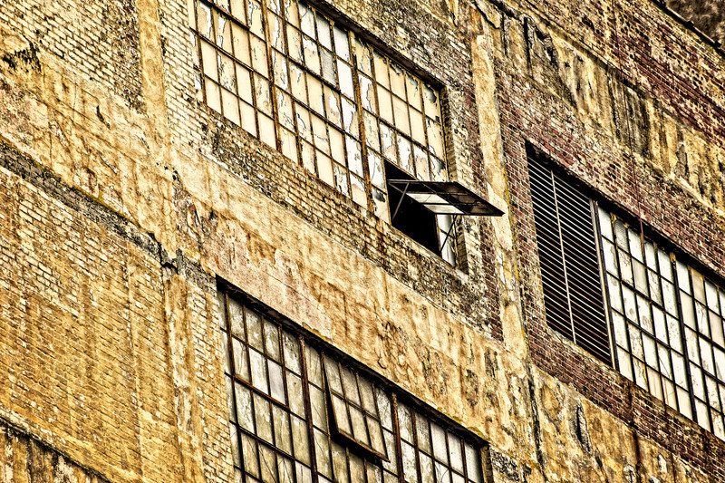 an open window, photographed in an alley in Birmingham, AL