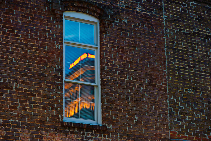 pane reflection at twilight