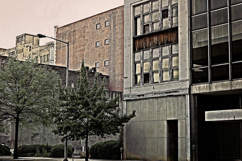 urban landscape along 1st Avenue North, Birmingham, Alabama
