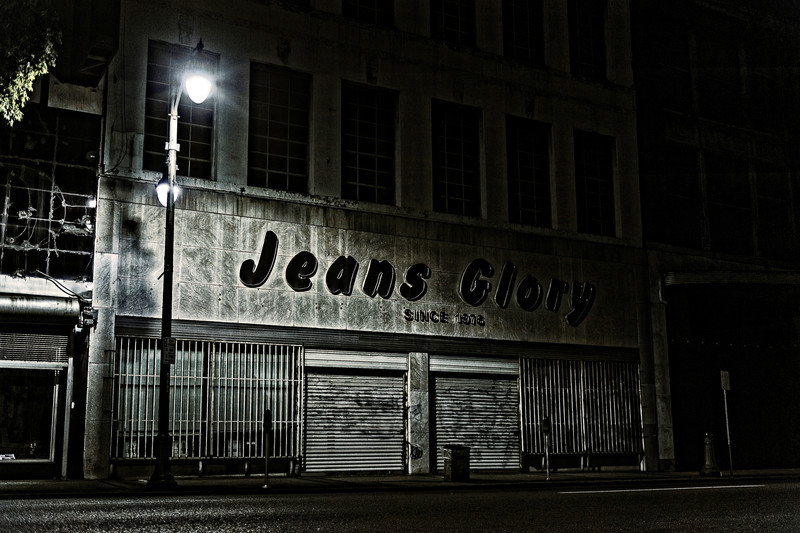 jeans glory, photographed during the zombie hours before dawn in birmingham, alabama