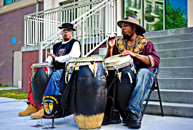 House of Congas, Philadelphia, PA, Saturday afternoon in April 2011, on a street corner in Midtown Atlanta, GA