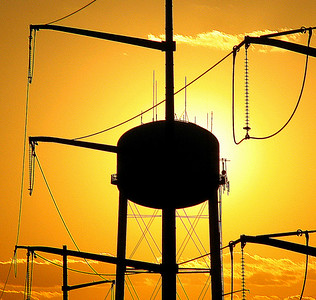 Industrial Sunset Honorable Mention  Manassas Warrenton Camera Club  February 2007