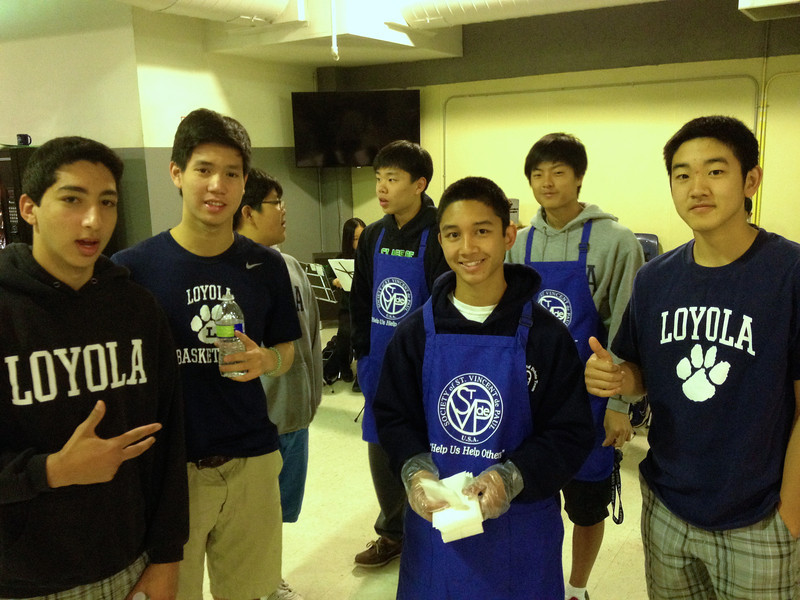 Saturday morning breakfast was provided by a Korean Catholic parish (St Basil Center) group, who brought along a youth octet. They did a fantastic job. Cubs pitched in to in order to make the breakdfast service smoother.  4/12/14