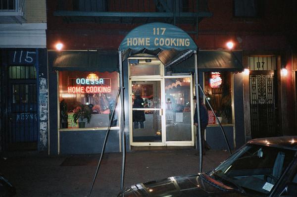 East Village, NYC, 1986: Odessa Restaurant