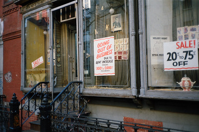 East Village, NYC, 1985: East 7th Street Storefront - 2 of 3