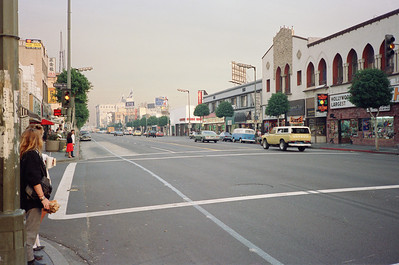 Hollywood Boulevard, 1987: Looking East