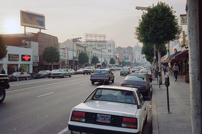 Hollywood Boulevard, 1987: Looking West