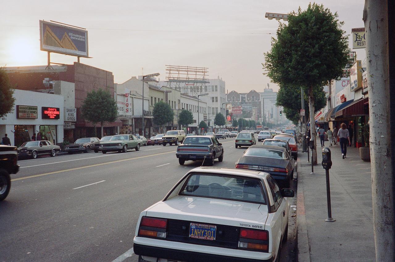 Hollywood Boulevard, 1987: Looking West