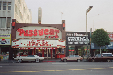 Hollywood Boulevard, 1987: Pussycat Theatre & Larry Edmunds Bookshop