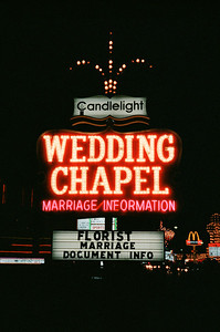 Las Vegas, January 1987: The Candlelight Wedding Chapel Sign