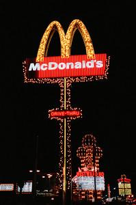 Las Vegas, January 1987: McDonald's Sign