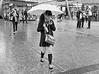 Texting In The Rain Brisbane City, Queensland, Australia