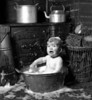 Baby's Bathtime at The Cottage  Looe, Cornwall, UK